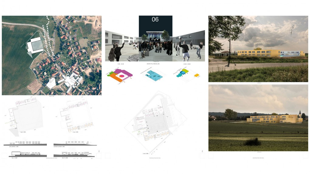 6 Urbanismus, vztah k obci: - budova bez měřítkového i výrazového vztahu k obci. Architektura: - cizorodá, schematická