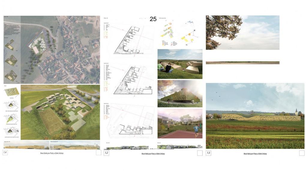 25 Celý komplex připomíná objekt individuálního bydlení, který plánuje být co nejvíce separovaný nejen od obce, ale víceméně od všeho původního či nepřizpůsobivého. Objekt sám sobě vytváří terén i kontext.