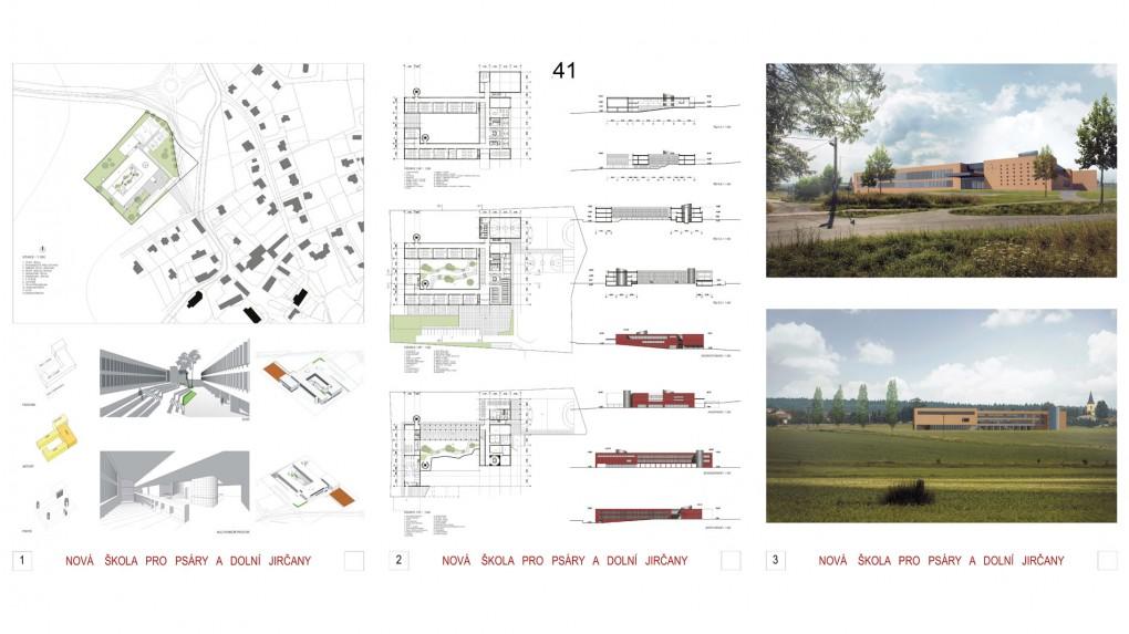 41 Jednoduchý tvar, racionální dobrý půdorys, ale spíše velkoměstská architektura, Stavba svojí ambicí výrazně přesahuje charakter obrazu školy na malém městě. Příliš monumentální.