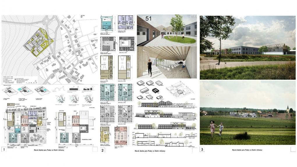 51 Návrh je nepřesvědčivý svým urbanistickým konceptem. Funkčně se jedná o zajímavé řešení které je ve svém důsledku až příliš schematické. Prvky venkovské architektury působí nepřesvědčivě a místy překombinovaně. Porota nepochopila smysl a účel střešní konstrukce nad vstupním objektem.